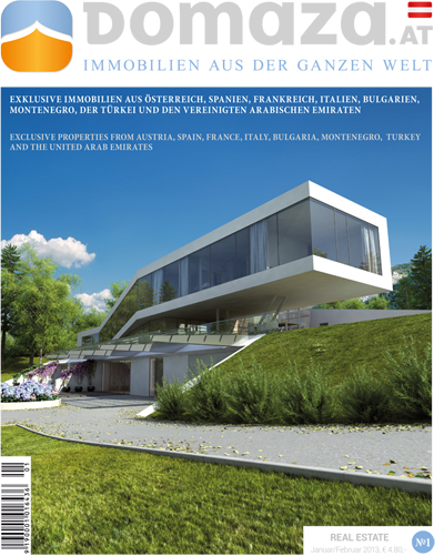 The first DomaZa real estate magazine started from Austria